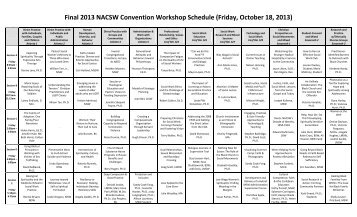 Workshop Schedule - North American Association of Christians in ...