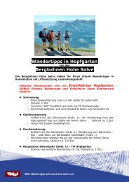 Wandertipps in Hopfgarten Bergbahnen Hohe Salve