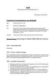 8. September 2008 - Protokoll der Vorstandssitzung - Weldergoven