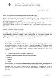 consulta cultura-sport-tempo libero - Comune di Cernusco ...