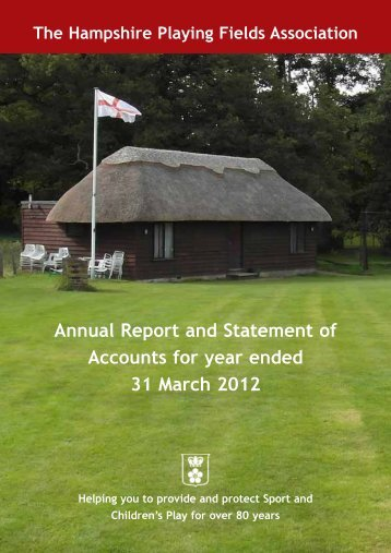a copy of the 2011/12 Annual Report. - Thehpfa.org
