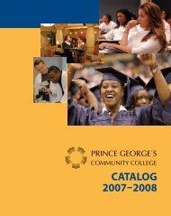 CATALOG 2007-2008 - Prince George's Community College