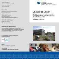 """""""Laut und Leise"""" - Unfallkasse Freie Hansestadt Bremen"""