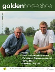 Spring 11 - Ontario Soil and Crop Improvement Association