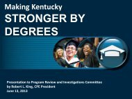 STRONGER BY DEGREES - Council on Postsecondary Education