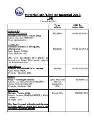 Materialliste/Lista de material 2013 10R