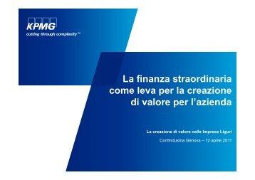 La finanza straordinaria come leva per la creazione come leva per ...