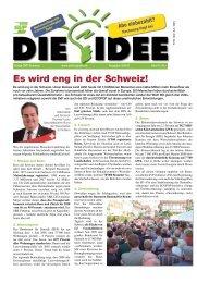 Es wird eng in der Schweiz! - Zeitung DIE IDEE