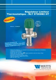 Régulateur Limiteur Thermostatique - RLT ... - Watts Industries