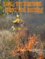 Legal environment for forestry prescribed burning in Mississippi