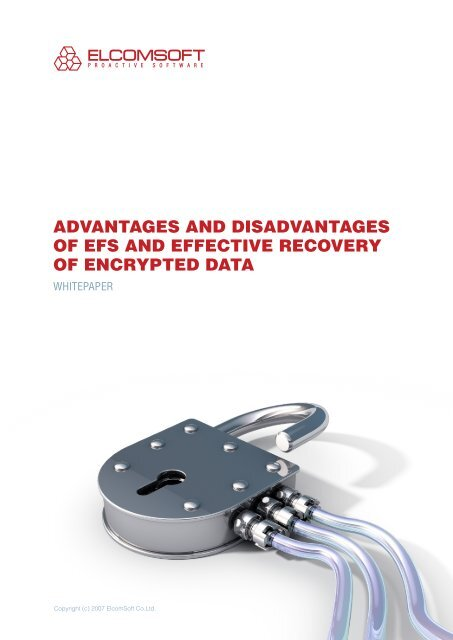 ADVANTAGES AND DISADVANTAGES OF EFS AND     - Elcomsoft