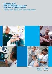 Public Health Report 2011 - NHS Cumbria