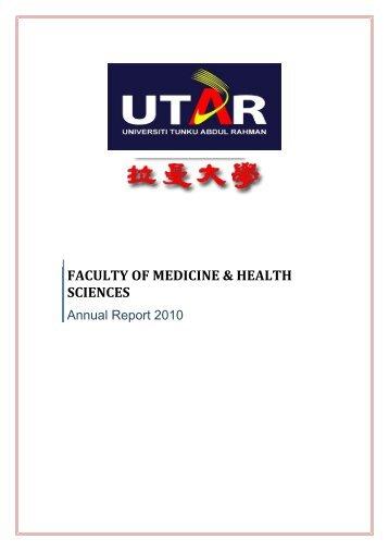 faculty of medicine & health sciences - Universiti Tunku Abdul Rahman