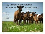 Key Drivers of Profitability on Pasture Based Dairies - Missouri Dairy ...