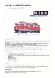 Kiss Original-Anleitung - von Bea und This