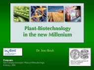 Plant-Biotechnology in the new Millenium - Fachbereich Biologie ...