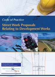 Code of Practice on Street Works Proposals Relating to ...