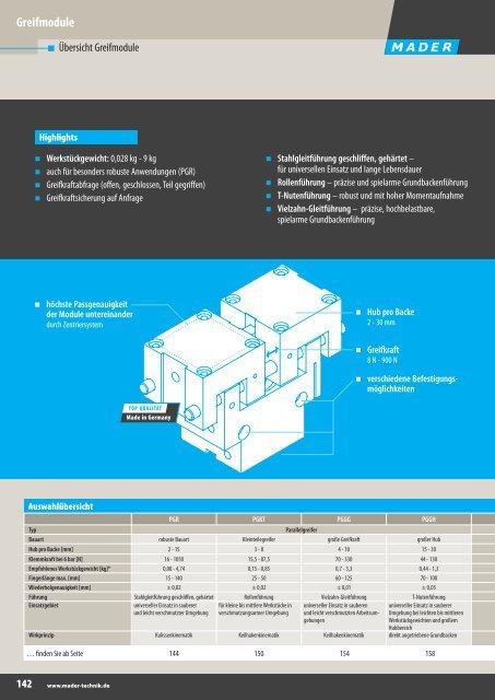 Katalog Handhabungstechnik - Greifmodule - Mader