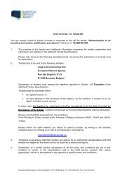 12.I&M.OP.280 - Invitation Letter - European Defence Agency - Europa