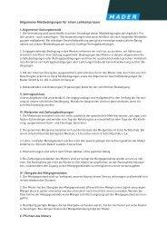 Allgemeine Mietbedingungen für einen Leihkompressor PDF - Mader