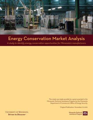 Energy Conservation Market Analysis - Minnesota Technical ...