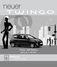 Preise und Daten, - Renault Kriegner