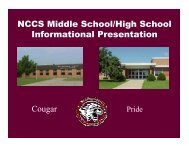Mid-year Informational Report - Home Page of the Cougars!