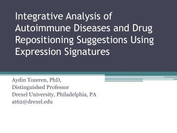 Integrative Analysis of Autoimmune Diseases and ... - Systems Biology