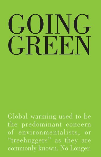Global warming used to be the predominant concern of ... - DelGro