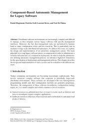 Component-Based Autonomic Management for Legacy Software