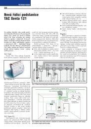 Nová řídicí podstanice TAC Xenta 121 - Schneider Electric CZ, s.r.o.