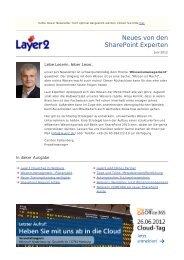 Layer2 Newsletter - Ausgabe 2  - Layer 2 GmbH