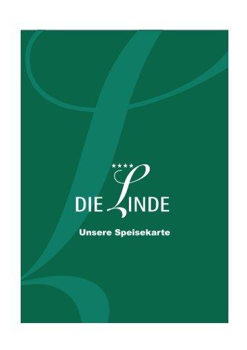 Speisekarte Die Linde - WOHIN HEUTE