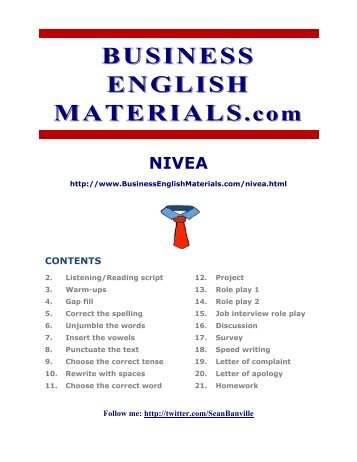 nivea - Business English Materials.com