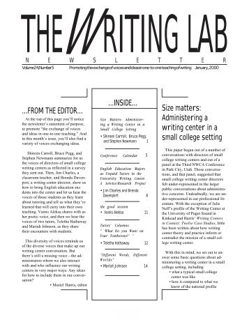 24.5 - The Writing Lab Newsletter