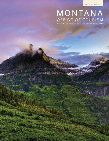 FY13 Montana Tourism Co-op Marketing Program (Revised 10/1/12)