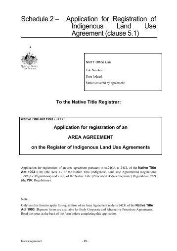 Agreeing On Native Title Indigenous Land Use Agreements