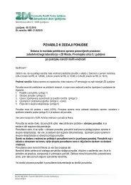 povabilo k oddaji ponudbe - Zdravstveni dom Ljubljana