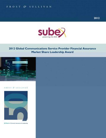 2012 Global Communications Service Provider Financial ... - Subex