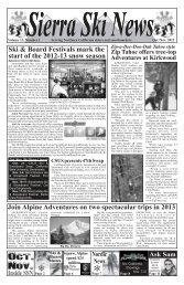 Oct. Nov. - Sierra Ski News
