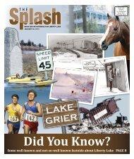 LAKE GRIER - The Liberty Lake Splash