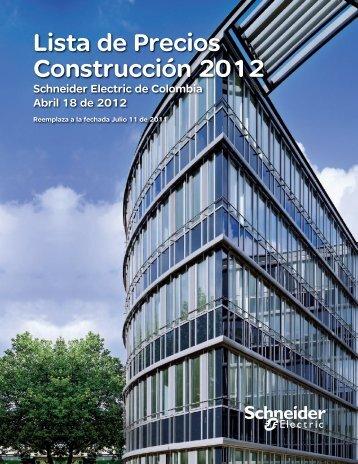 Lista de Precios Construcción 2012 - Schneider Electric