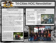 May 2010 News Letter - Tri-Cities HOG Chapter's