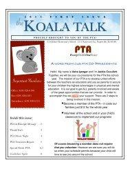 Koala Talk: September 2011 - Cowlishaw Elementary School