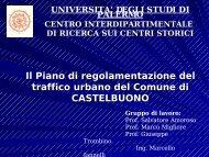 piano di regolamentazione del traffico urbano - Castelbuono .Org