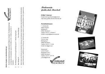Weitere Angaben zur Beitrittserklärung: - Goetheschule Hemsbach ...