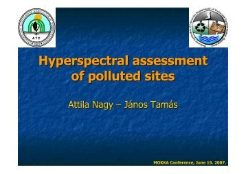 Hyperspectral assessment of polluted sites - MOKKKA.hu