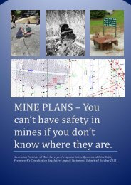 official aims submission - The Australian Institute of Mine Surveyors