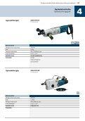 Gyémántfúrógépek, betoncsiszoló,falhoronymarók - Bosch - Page 4