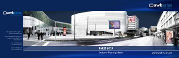 Faktplaner 2013 - awk Outdoor Media Sales